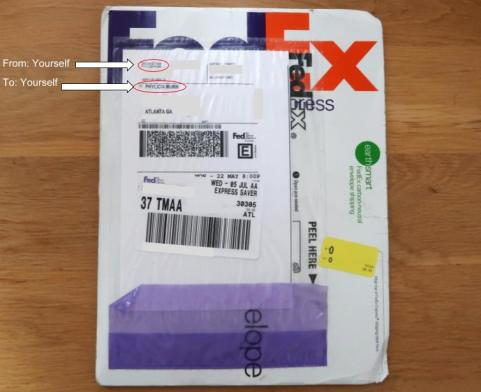 French Visa Envelope